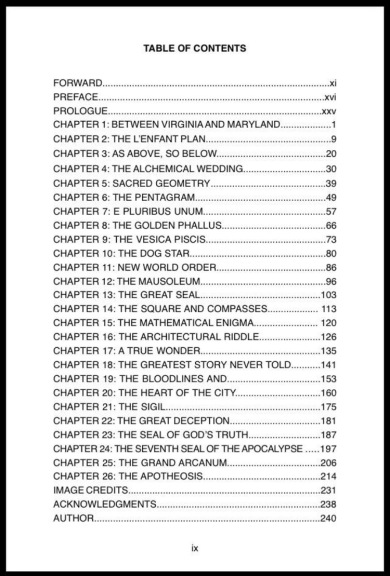 The Vitruvian Code Table of Contents